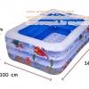 ( ขนาด 4.5 ฟุต )สระน้ำเป่าลม ลายทะเลขนาด 140*100*45 เซนติเมตร **FW-934**