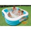 Blue Square Intex inflatable family pool - 229 x 229 x 56 cm สระน้ำเป่าลม สีฟ้า 56495NP
