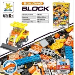 DIY BLOCK ของเล่นเด็กชุดตัวต่อเลโก้ 1000 ชิ้น Engineering Car Series