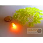 LED 5 มิล ชนิดตัวสี สีเหลือง (สีส้มอำพัน)