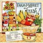 0405 กระดาษอาร์ทพิมพ์ลาย สำหรับทำงาน เดคูพาจ Decoupage : Cooking Series - Chunky Corn & Tomato Gazpacho A5