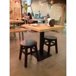 โต๊ะฐานเหลี่ยม+เก้าอี้สตูลกลม 2 ตัว ดีไซน์น่ารัก คุณภาพส่งออก (PPY-SET2)