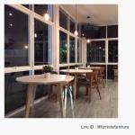 โต๊ะกาแฟกลม มีดีไซน์ สำหรับร้านกาแฟ ร้านอาหาร (รับสั่งทำตามขนาด)