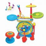 กลองชุดสำหรับเด็ก 2 in 1 + คีย์บอร์ด + ไมค์ มีไฟมีเสียงพร้อมเก้าอี้ (B1402) **สีฟ้า- สีชมพู**