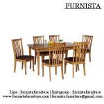 ชุดโต๊ะอาหารไม้จริง 4 ที่นั่ง มีสไตล์ ดีไซน์สวย (FZ-SET)