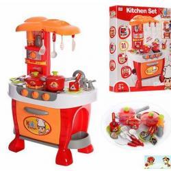 ชุดเครื่องครัว พร้อมอุปกรณ์ เตาแก๊ส มีไฟมีเสียง **สีส้ม สีชมพู ***