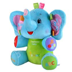 ตุ๊กตาเสริมพัฒนาการ ช้าง JOLLY BABY ** สีฟ้า สีชมพู **