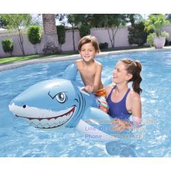 ปลาฉลาม เป่าลม ขนาดใหญ่ 183*112 เซนติเมตร ปลาฉลามเป่าลม (สีฟ้า 41032) White Shark Rider