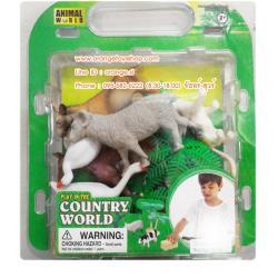 ชุดโมเดล สัตว์ฟาร์ม แบบกล่อง Animal World ***CB9902/08A -สัตว์คละพร้อมอุปกรณ์ คละแบบ