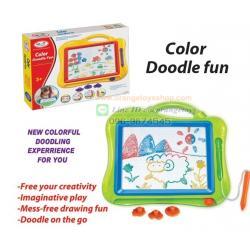กระดานวาดรูป แบบสี Drawing board magic แบบใหม่ พร้อม ตัวปั๊มแสนซน