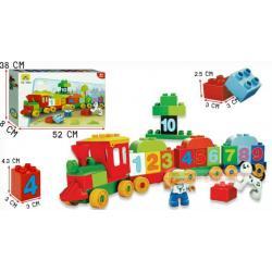 DIY Block บล็อคตัวต่อ รถไฟตัวเลข 1-10 แบบกล่อง