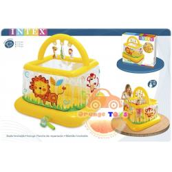 บ่อกระโดดสิงโต สีเหลือง Children's inflatable arena kadratny Intex Soft-Sides Lil 'Baby Gym 48473NP