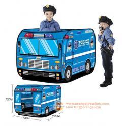 เต็นท์ รถตำรวจ สีน้ำเงิน/ฟ้า Police Car design Play House ***ไม่แถมลูกบอล***