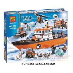 DIY BLOCK บล๊อก ตัวต่อ Urban Arctic Series ชุดบล๊อกตัวต่อ ชุดตัวต่อเรือชุดใหญ่ยุคน้ำแข็ง 760 ชิ้น (6-12 ปี)
