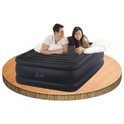 Intex ที่นอนเป่าลมปั้มไฟฟ้าในตัว Queen Size รุ่น 64440 (สีดำ)
