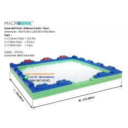 DIY BLOCK บ่อบอล บล๊อกตัวต่อ ตัวต่อยักษ์ Macro brik (173 pcs.) in box big block พร้อมลูกบอล 1800 ลูก