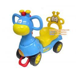 ยีราฟ ขาไถ น่ารัก คละสี รถขาไถ หัวยีราฟ มีเสียงดนตรี (สีฟ้า)