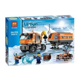 DIY BLOCK บล๊อก ตัวต่อ Urban Arctic Series ชุดบล๊อกตัวต่อ รถเครน 394PCS/SET BUILDING BLOCK TOYS ยุคน้ำแข็ง 394 ชิ้น (6-12 ปี)