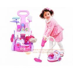 ชุดอุปกรณ์ทำความสะอาด ครบเซ็ต พร้อมเครื่องดูดฝุ่น สุดน่ารัก Little Helper with Real Vacuum Cleaner Cart LED Playset Play TOY-5952