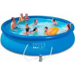 ( ขนาด 15 ฟุต ) Easy Set Pool 28180NP (4.57m*84cm) สระน้ำเป่าลม Intex Easy Set 28180 (15 ฟุต)
