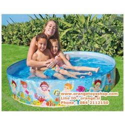 ( ขนาด 5 ฟุต ) Intex สระขอบตั้งลายเด็กเล่นชายหาด 5 ฟุต (152 x 25 cm)