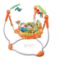Jumperoo จัมเปอร์โร่ เก้าอี้กระโดด 360 องศา จั๊มเปอร์ Jumper Jungle (สีเขียว สีส้ม)