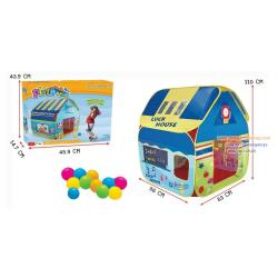 (บ้านบอลเด็ก) เต็นท์ บ้านบอล สีสวย Luck House คุณหนู พร้อมลูกบอลในกล่อง 12 ลูก
