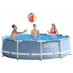 (ขนาด 10 ฟุต) สระน้ำขนาดใหญ่ Intex Prism 28700 ขนาด 10 ฟุต **ขนาด 305 x 76 เซนติเมตร**
