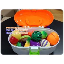 ของเล่นผลไม้ผ่าซีก ของเล่นหั่นผลไม้ มีผลไม้ พร้อมมีด **445927/6011**