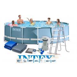 (ขนาด 15 ฟุต) สระน้ำขนาดใหญ่ Pool frame 457 x 122 cm. 28736 Intex New full set