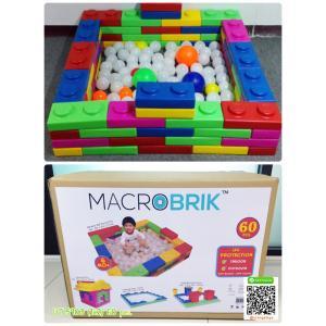 บล๊อกตัวต่อ ตัวต่อยักษ์ Macrobrik (60 pcs.) in box big block **ไม่รวมลูกบอล