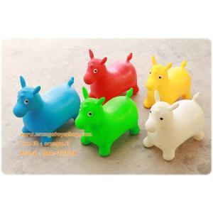 ตุ๊กตาเด้งดึ๋ง ม้า (คละสี) สัตว์ยาง รูปม้า **แบบหนาอย่างดี**