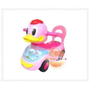 รถขาไถ หน้าเป็ด สีชมพู มีเพลง