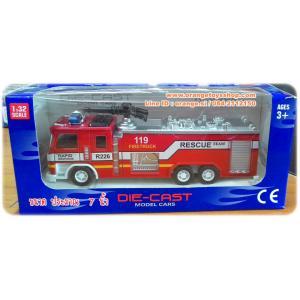 ชุด โมเดลรถ รถดับเพลิง มีไฟ สีเสียง **หัวฉีดน้ำ**