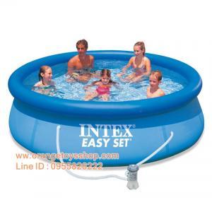 ( ขนาด 10 ฟุต )สระน้ำขนาดใหญ่ EasySet Pool Intex 28122 พร้อมเครื่องกรอง 10 ฟุต x 30 นิ้ว (305 x 76 ซม.)