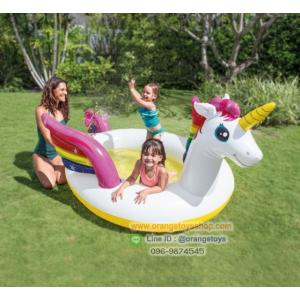 Intex สระน้ำ สวนน้ำเป่าลม ยูนิคอน Children's pool Unicorn Intex