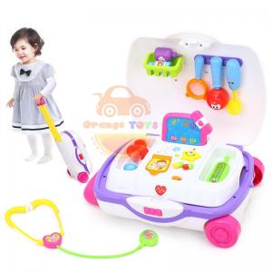 Huile Toys ชุดหมอกระเป๋าลาก ชุดกระเป๋าคุณหมอพร้อมอุปกรณ์ตรวจรักษา