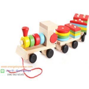 ของเล่นไม้ เสริมพัฒนาการ รถไฟไม้ขนาดกลาง( 37 cm.) Wooden Toys