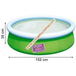 สระน้ำ แบบกลม ขนาดกลาง (สีเขียว) ขนาด 153*38 เซนติเมตร