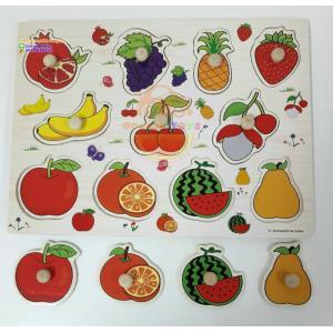 ชุดของเล่นไม้ แผ่นสอนเรียนรู้เรื่องผลไม้ (2 แผ่น)