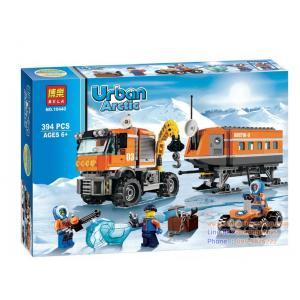 บล๊อก ตัวต่อ Urban Arctic Series ชุดบล๊อกตัวต่อ รถเครน 394PCS/SET BUILDING BLOCK TOYS ยุคน้ำแข็ง 394 ชิ้น (6-12 ปี)