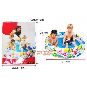 ( ขนาด 3 ฟุต )สระน้ำกลม ขนาดเล็ก 107*25 เซนติเมตร