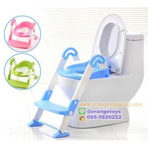 ฝารองชักโครกมีบันไดสำหรับเด็ก 3 in 1 - สีฟ้า Toddler Potty Training Toilet Ladder Seat Steps Kids Children