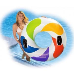 (ขนาด 47 นิ้ว )ห่วงยางเล่นน้ำแฟนซี Intex Recreation 58202-1 Color Whirl Pool Tube, 47-In.