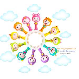 Huile Toys ของเล่นเด็กอ่อน เขย่ามือสำหรับเด็ก คละสี มีเสียง มีไฟ