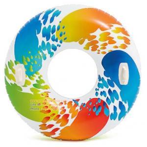 (ขนาด 47 นิ้ว )ห่วงยางเล่นน้ำแฟนซี Intex Recreation 58202EP Color Whirl Pool Tube, 47-In.