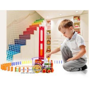 รถไฟโดมิโน Domino Train Domino Block Toys รถไฟเรียงโดมิโน่ พร้อมโดมิโน่ 105 ชิ้น