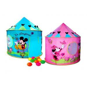 (บ้านบอลเด็ก) เต็นท์โดม มิกกี้เมาส์ พร้อมบอล 10 ลูกในกล่อง สีชมพู สีฟ้า