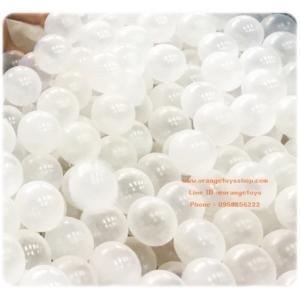 """(ลูกบอล บอลนิ่ม) (100 ลูก ) บอลนิ่ม ลูกบอล ขนาด 3"""" ลูกบอลใส Snow Ball Antibacterial จำนวน 100 ลูก **ถุงตาข่าย**"""