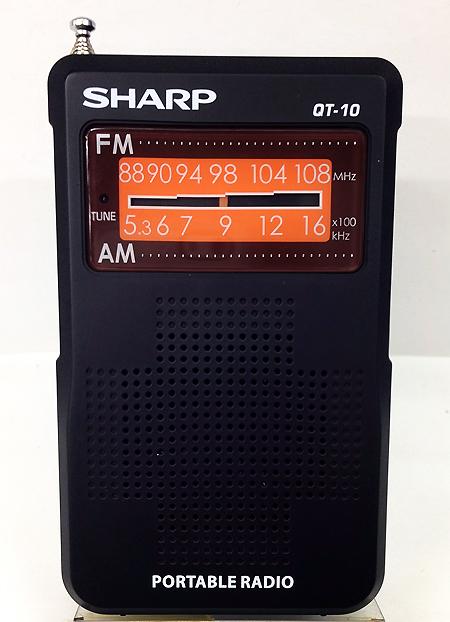 วิทยุเล็กแบบพกพา SHARP รุ่น QT-10W